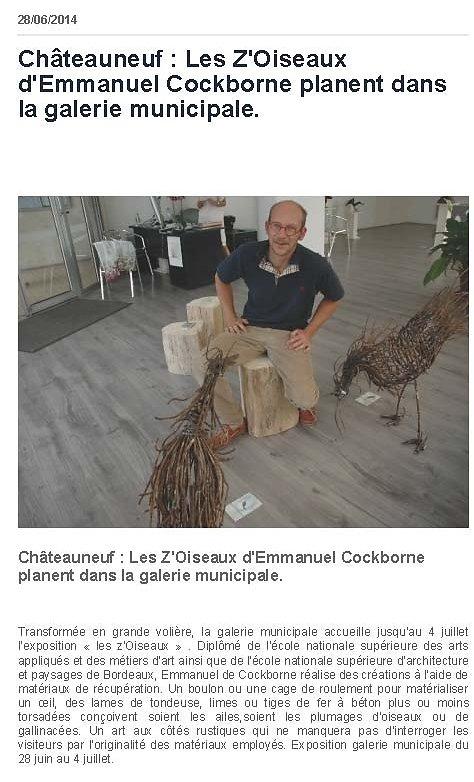 La Charente libre 2014