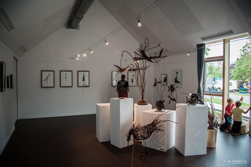 salle exposition musée des marins et capitaines, Ile d'Arz (56), Aout 2015