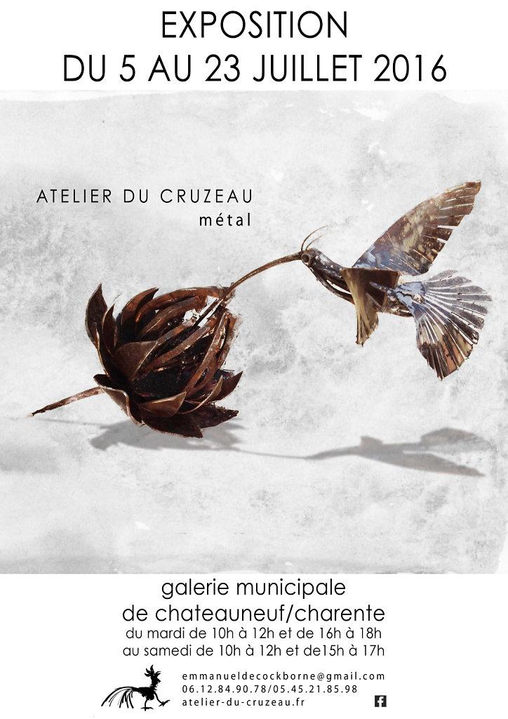 nouvelle expo en Charente  juillet 2016