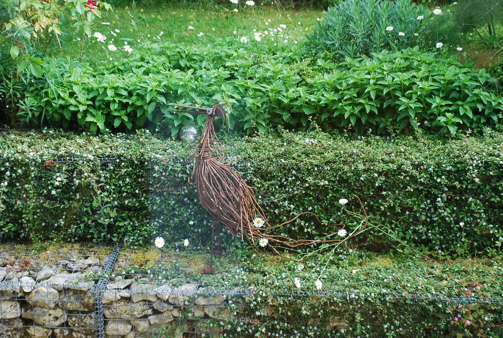 heron au jardin