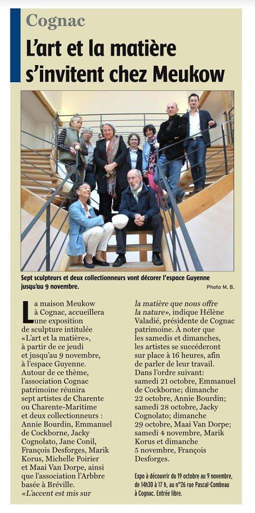Charente libre 17 octobre 2017
