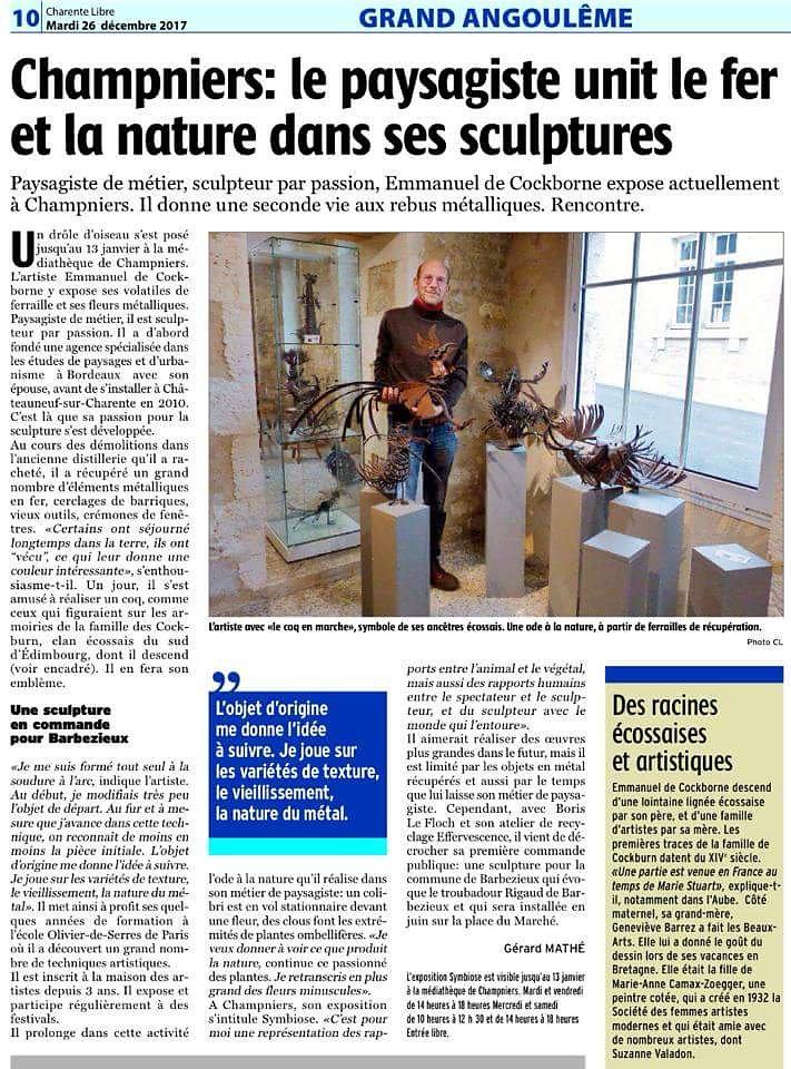 La Charente libre 26 décembre 2017