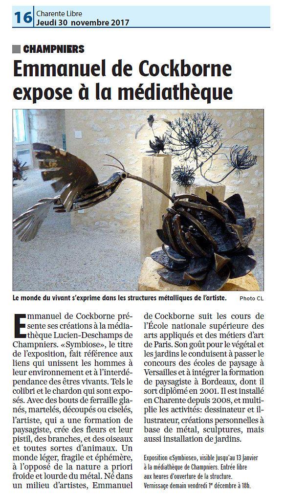 La Charente libre 30 novembre 2017
