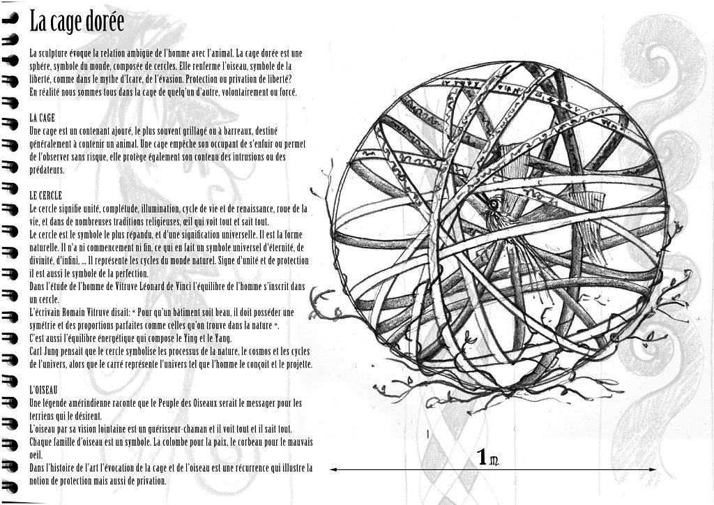 projet pour Manimal : la cage dorée