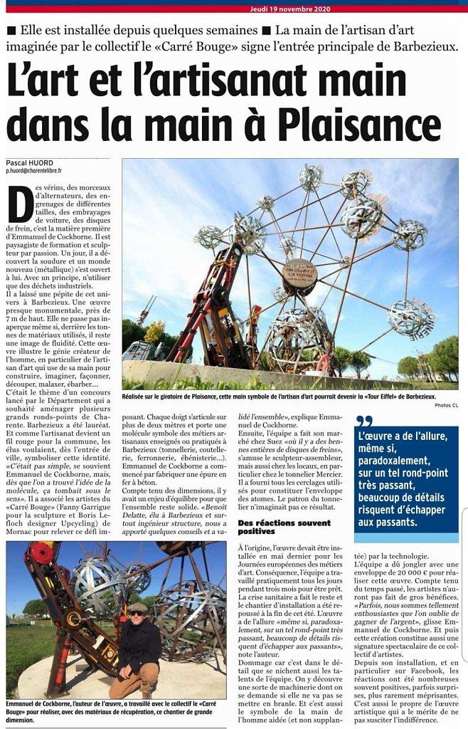 2020_La main de Barbezieux_La Charente Libre